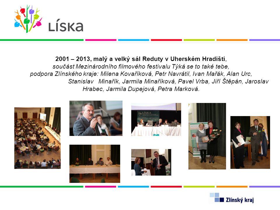 2001 – 2013, malý a velký sál Reduty v Uherském Hradišti, součást Mezinárodního filmového festivalu Týká se to také tebe, podpora Zlínského kraje: Mil
