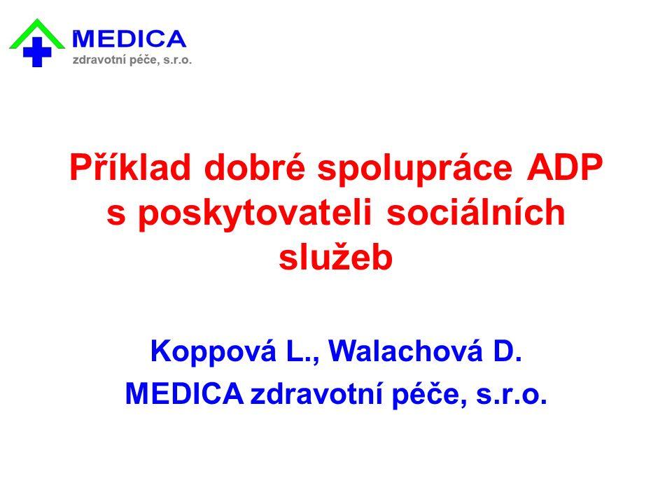 Příklad dobré spolupráce ADP s poskytovateli sociálních služeb Koppová L., Walachová D.