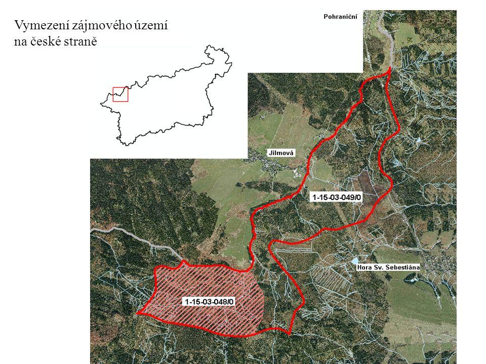 Vymezení zájmového území na české straně