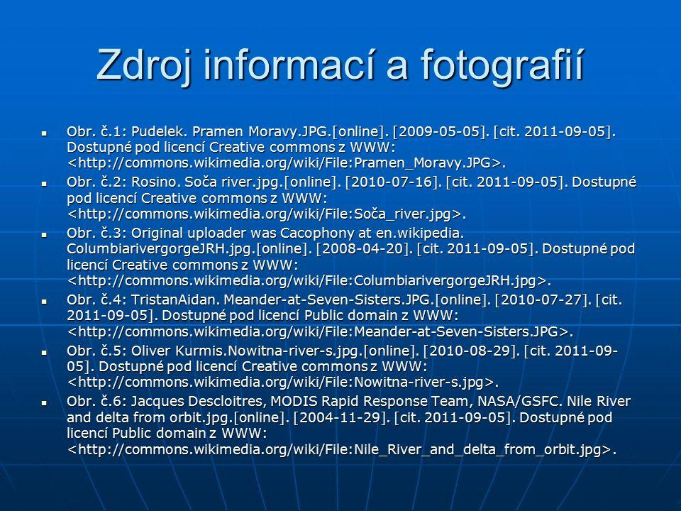 Zdroj informací a fotografií Obr. č.1: Pudelek. Pramen Moravy.JPG.[online].