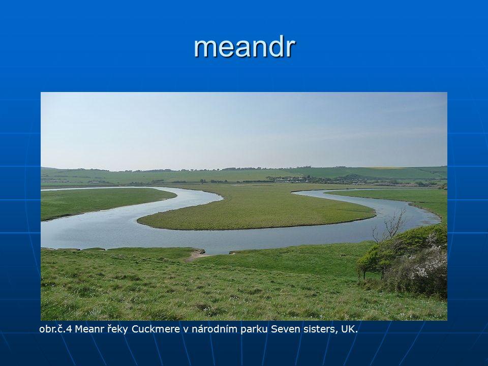 meandr obr.č.4 Meanr řeky Cuckmere v národním parku Seven sisters, UK.