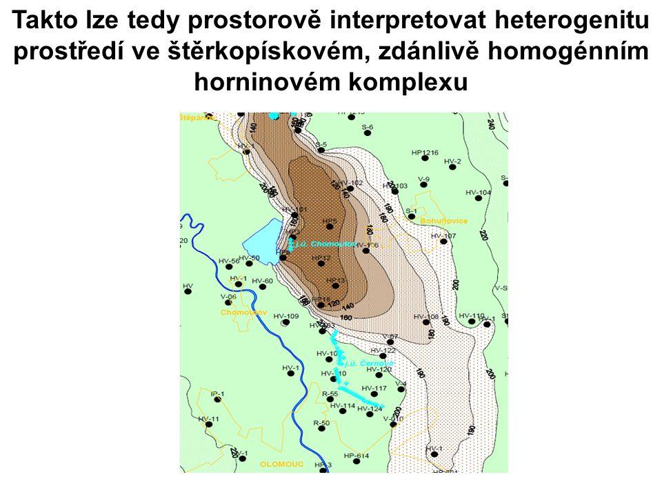 Takto lze tedy prostorově interpretovat heterogenitu prostředí ve štěrkopískovém, zdánlivě homogénním horninovém komplexu