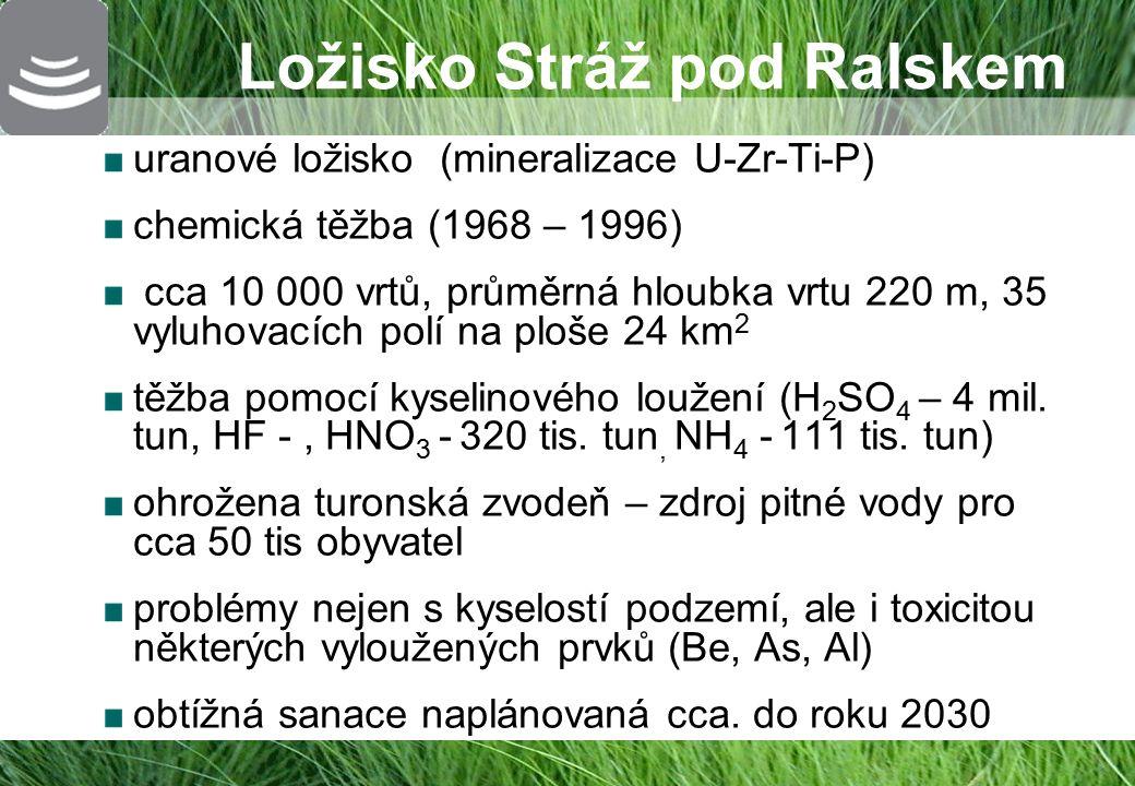 Stratigrafie ložiska Stráž pod Ralskem ARTEC http://centrum-sanace.tul.cz ARTEC 4 Cenomanská zvodeň s U zrudněním Turonská zvodeň využívaná jako zdroj pitné vody