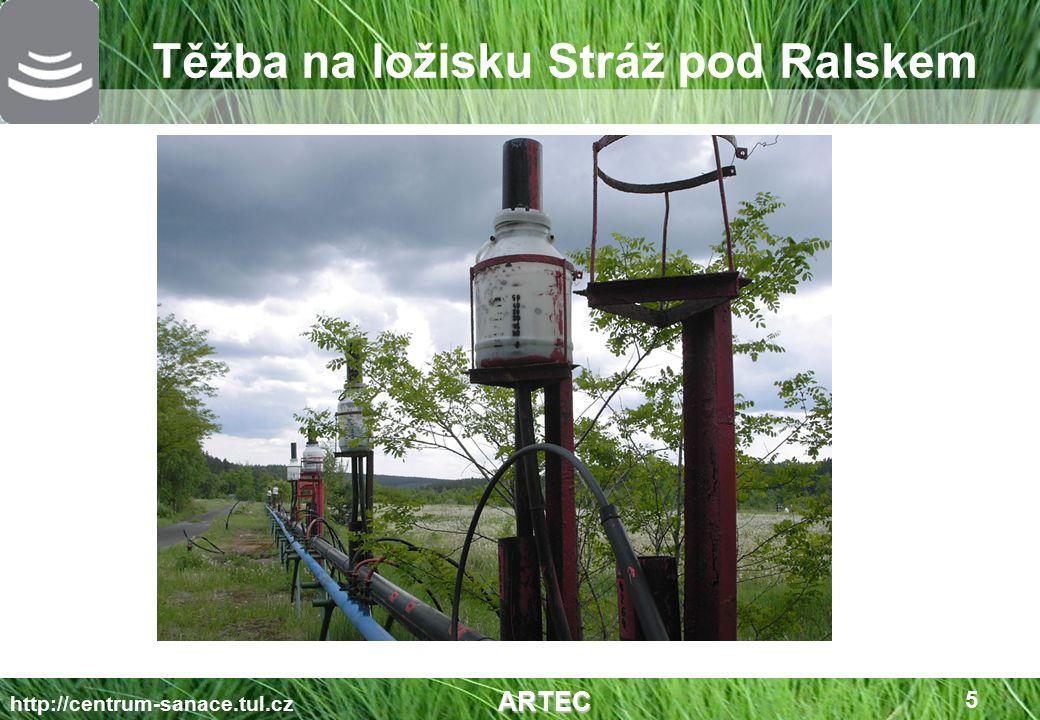 Pohyb roztoků ve vyluhovacích polích ARTEC http://centrum-sanace.tul.cz ARTEC 6 Vrt ID 58, Stráž p.