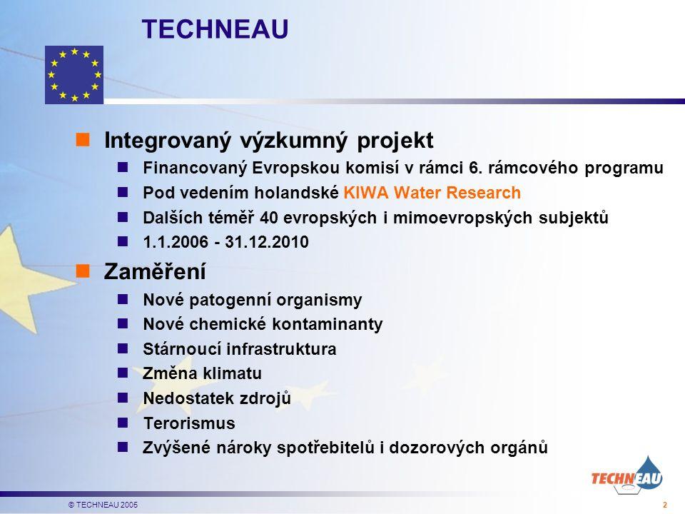 © TECHNEAU 2005 2 TECHNEAU Integrovaný výzkumný projekt Financovaný Evropskou komisí v rámci 6.