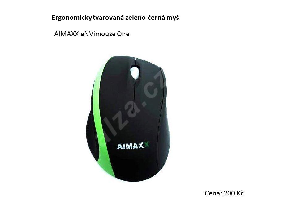 Ergonomicky tvarovaná zeleno-černá myš AIMAXX eNVimouse One Cena: 200 Kč
