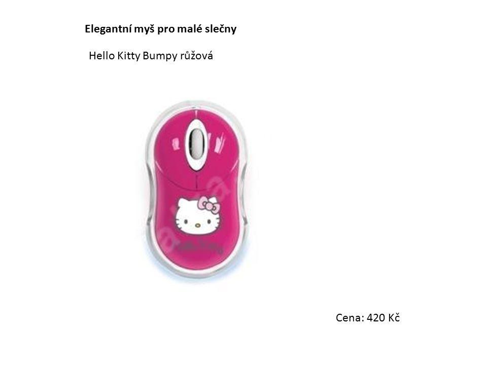 Elegantní myš pro malé slečny Hello Kitty Bumpy růžová Cena: 420 Kč