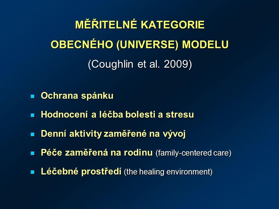MĚŘITELNÉ KATEGORIE OBECNÉHO (UNIVERSE) MODELU (Coughlin et al.