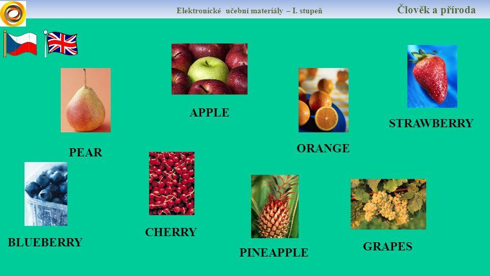 APPLE ORANGE PEAR Elektronické učební materiály – I.