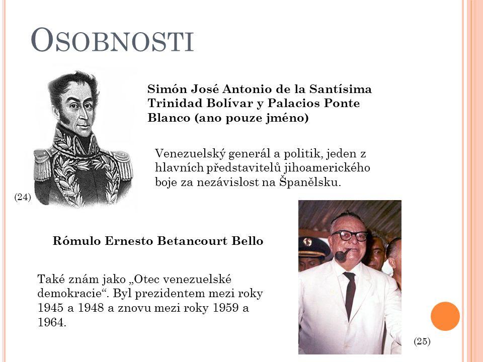 O SOBNOSTI Simón José Antonio de la Santísima Trinidad Bolívar y Palacios Ponte Blanco (ano pouze jméno) Venezuelský generál a politik, jeden z hlavních představitelů jihoamerického boje za nezávislost na Španělsku.
