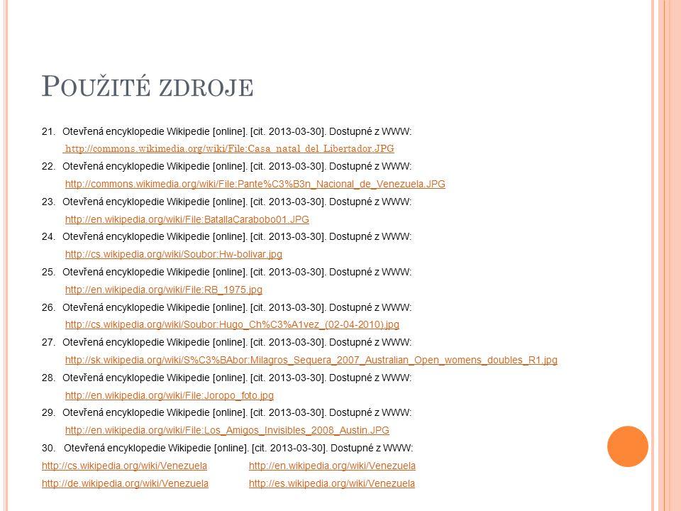 P OUŽITÉ ZDROJE 21.Otevřená encyklopedie Wikipedie [online].