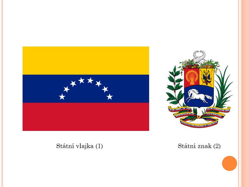 Státní vlajka (1)Státní znak (2)