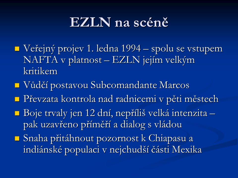 EZLN na scéně Veřejný projev 1.