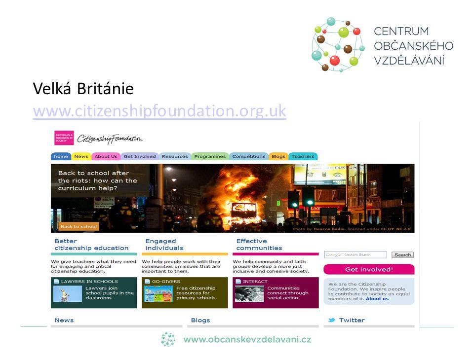 Velká Británie www.citizenshipfoundation.org.uk