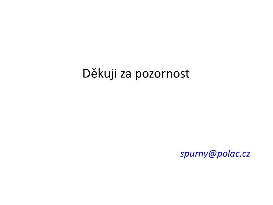 Děkuji za pozornost spurny@polac.cz