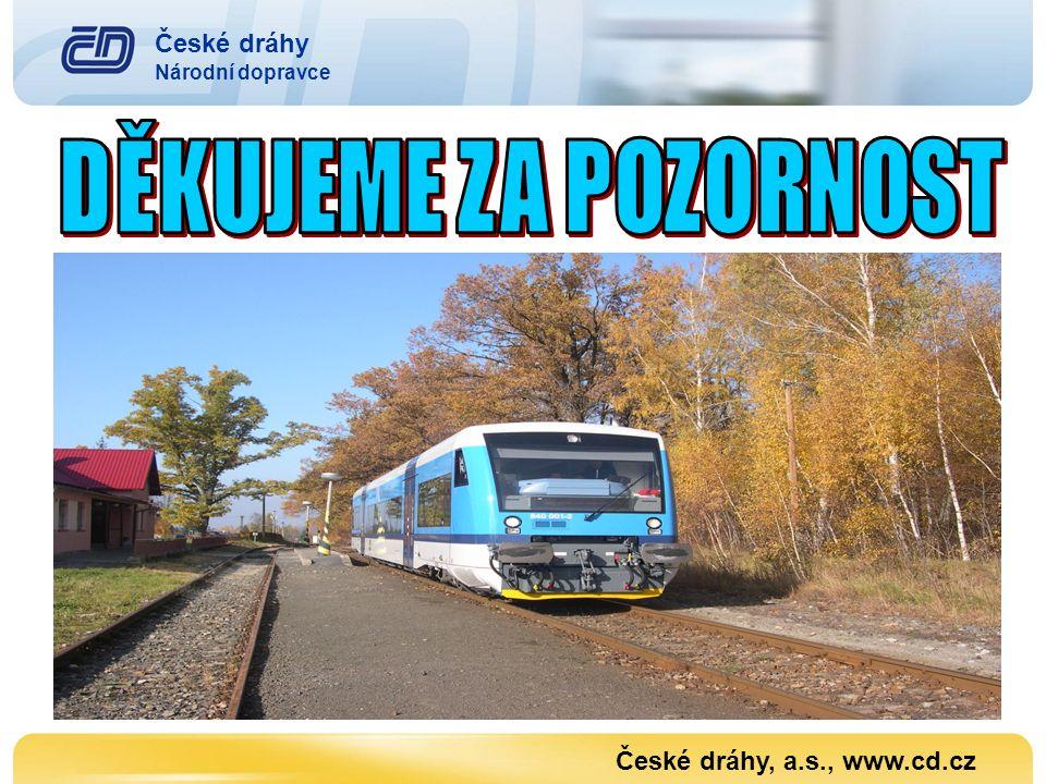 České dráhy Národní dopravce České dráhy, a.s., www.cd.cz