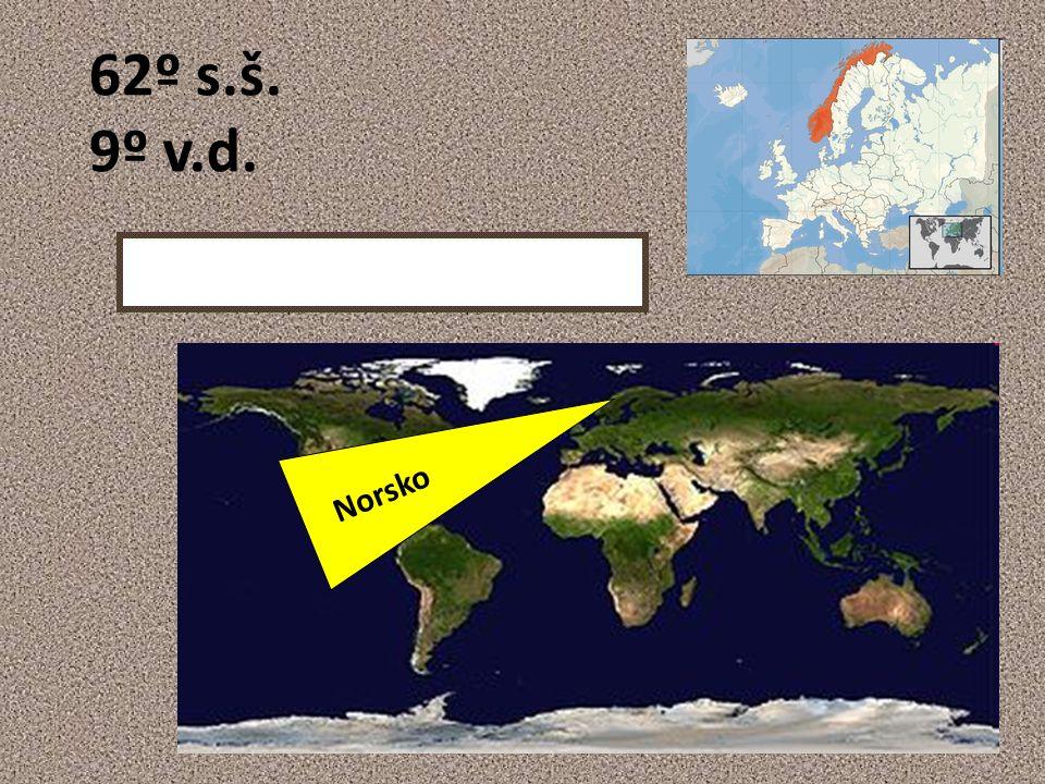 62º s.š. 9º v.d. Norsko