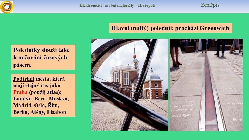 Elektronické učební materiály - II.stupeň Zeměpis Vyznač křížkem v mapě tato místa: 1.