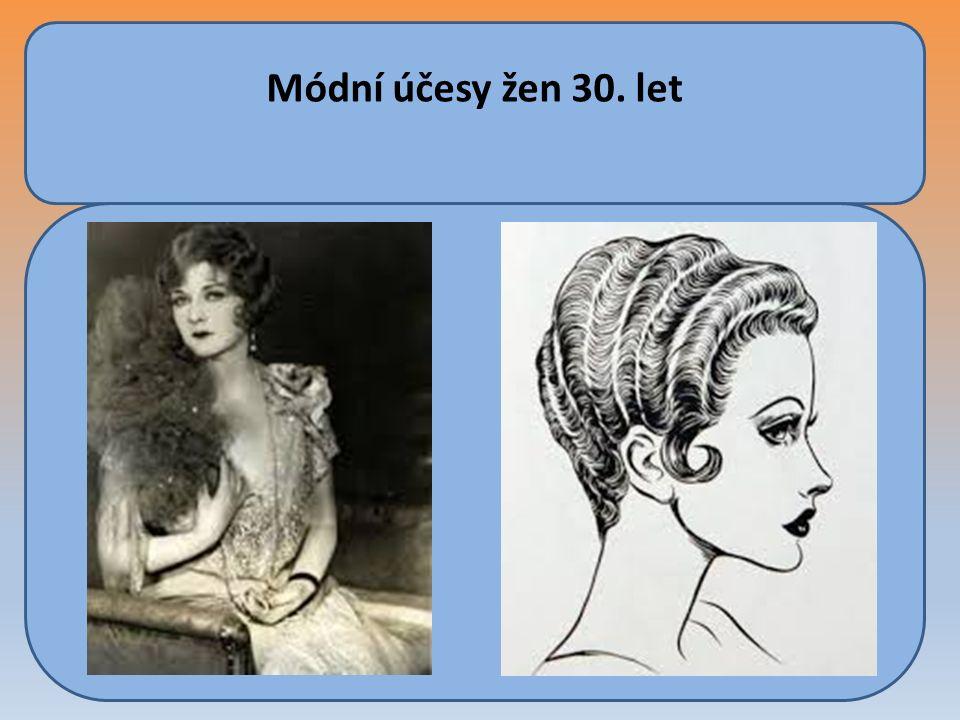 Módní účesy žen 30. let