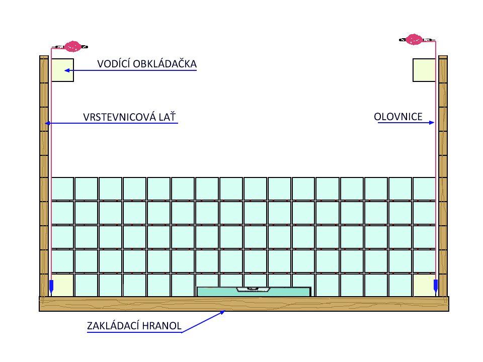 Metoda tenkovrstvého obkládání,,Košická metoda Podkladem pro obkládání košickou metodou byla čerstvá, zavadlá jádrová omítka z cementové nebo vápenocementové malty.