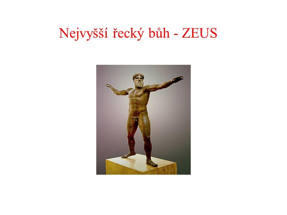 ZOPAKUJME SI ….. Víš, jak se jmenuje nejvyšší řecký bůh?