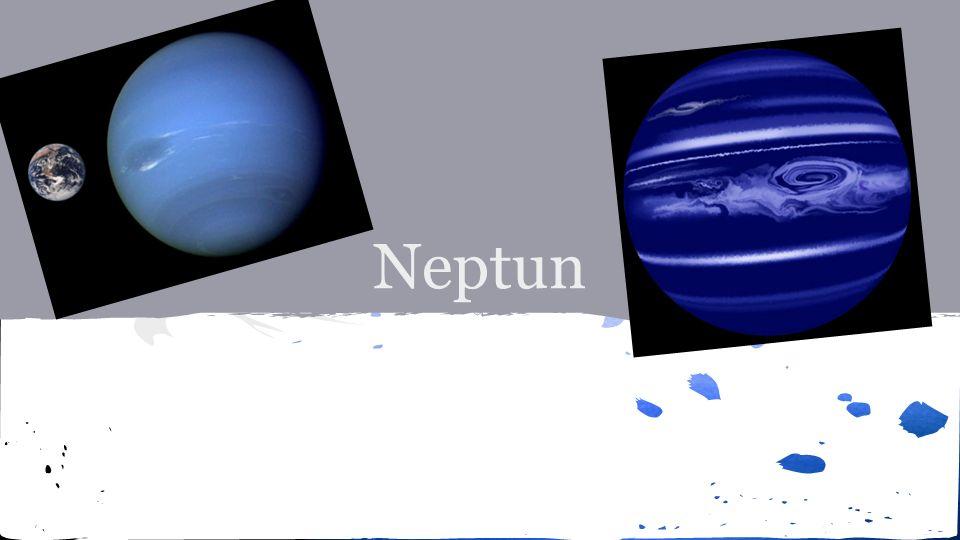 ● Doba oběhu okolo Slunce je 163let ● Průměr planety je 49 528 km ● Planeta byla objevena v roce 1846 Johannem Gallem ● Svou modrou barvu má Neptun díky obsahu metanu v atmosféře ● Pojmenována podle římského boha moří