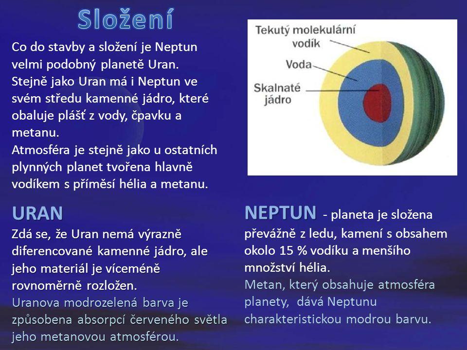 Co do stavby a složení je Neptun velmi podobný planetě Uran.