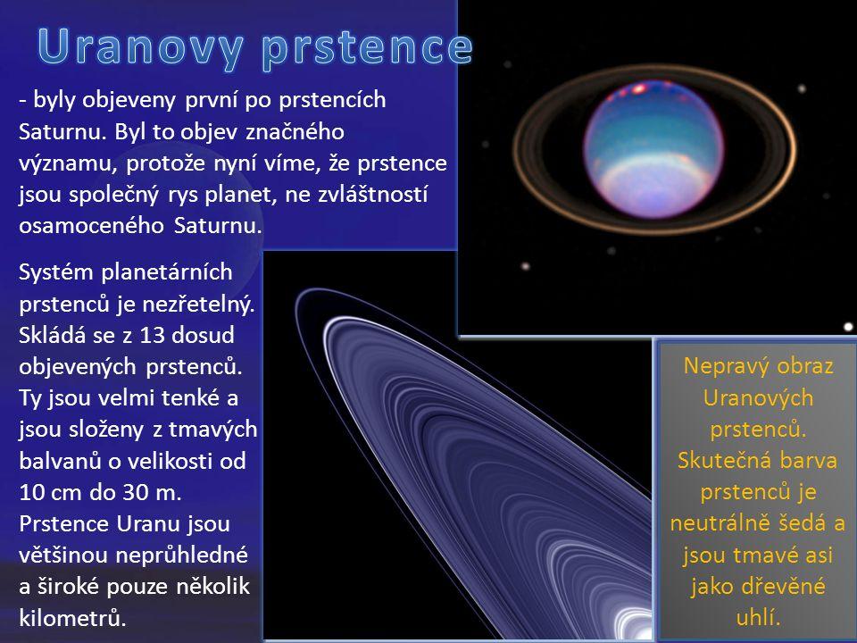 Nepravý obraz Uranových prstenců.