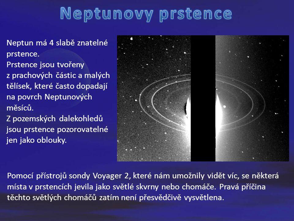 Neptun má 4 slabě znatelné prstence.