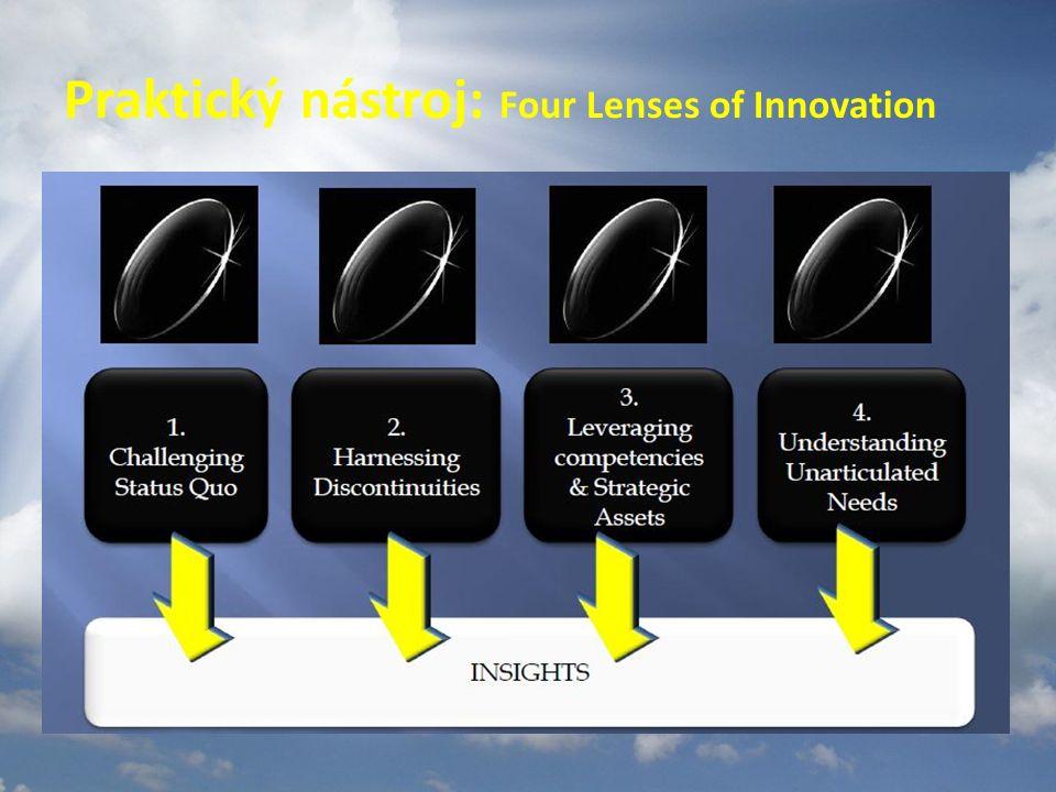 Inovační mýty a předsudky Musím počkat, až se mi v hlavě objeví ta správná, milionová myšlenka. Čekání v dnešní době nestačí. Myšlenkový základ je tře