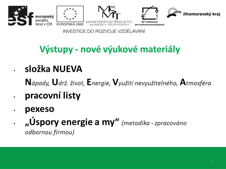 8 Výstupy - nové výukové materiály složka NUEVA N ápady, U drž.