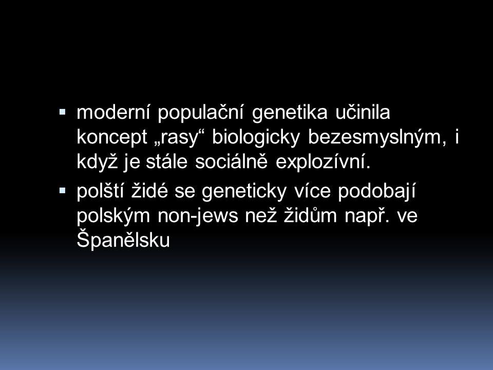 """ moderní populační genetika učinila koncept """"rasy biologicky bezesmyslným, i když je stále sociálně explozívní."""