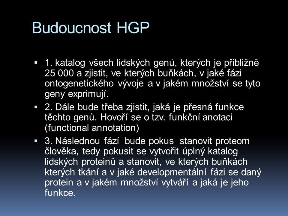 Budoucnost HGP  1.