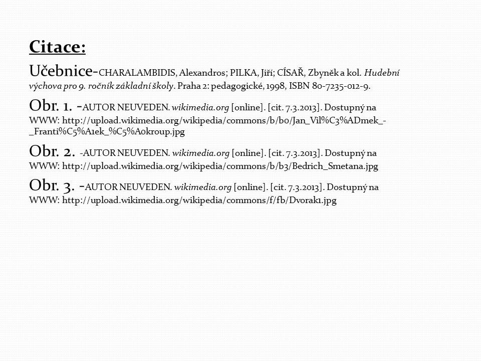 Citace: Učebnice- CHARALAMBIDIS, Alexandros; PILKA, Jiří; CÍSAŘ, Zbyněk a kol.