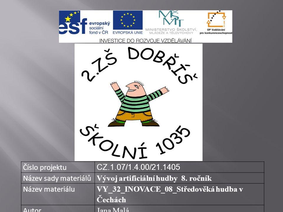 Číslo projektu CZ.1.07/1.4.00/21.1405 Název sady materiálů Vývoj artificiální hudby 8.