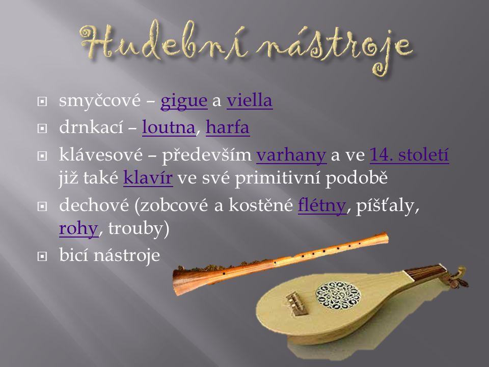  písně táborské (výrazově tvrdé, strohé) a pražské (melodicky bohatší)  Pouze jednohlasý chorál Jistebnický kancionál - sbírka husitských písní a sk