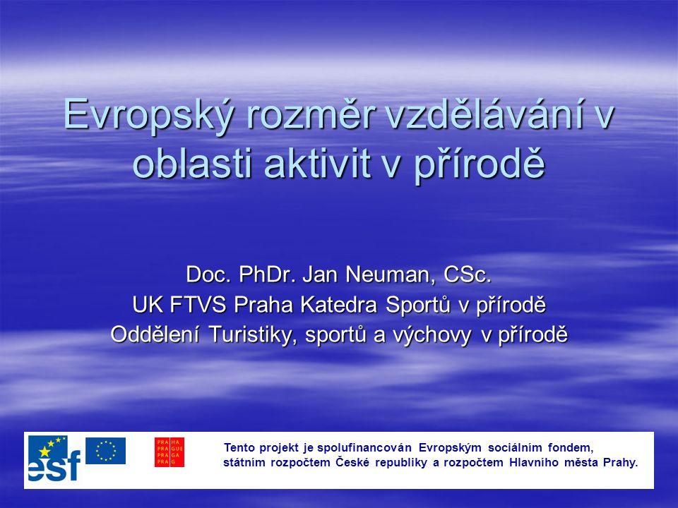 Evropský rozměr vzdělávání v oblasti aktivit v přírodě Doc.