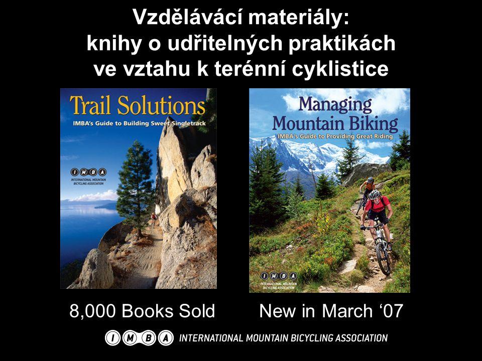 Vzdělávácí materiály: knihy o udřitelných praktikách ve vztahu k terénní cyklistice 8,000 Books SoldNew in March '07