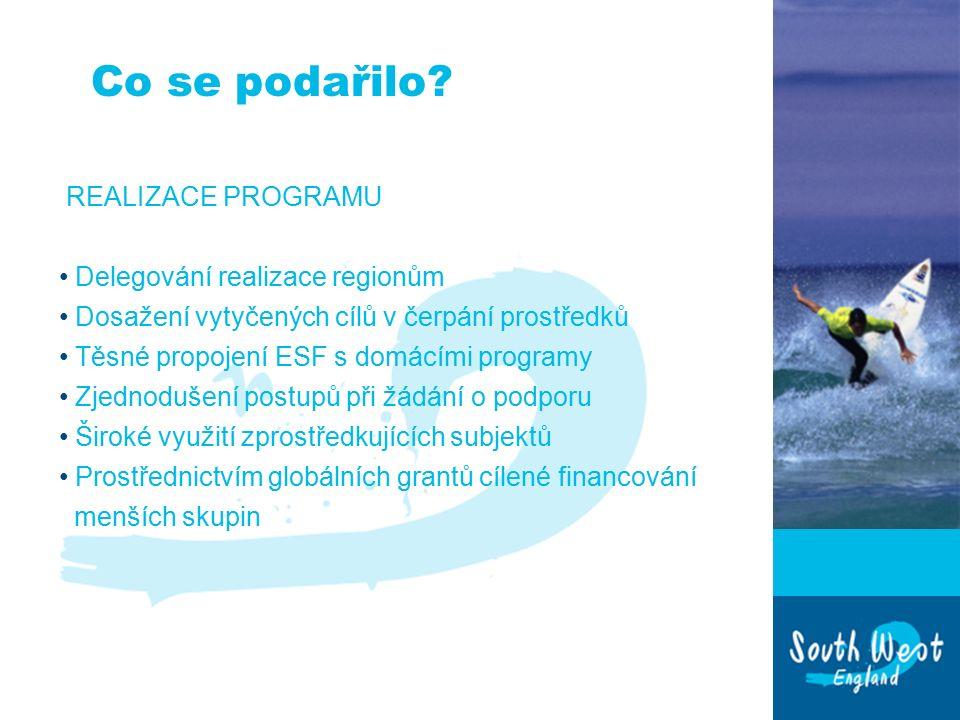 Plány pro období 2007 – 2013 Strategické obecné zásady Společenství: 1 Lepší prostředí k práci a k životu 2 Využití nápadů, sdílení znalostí a dobrých zkušeností 3 Vytvoření více a lepších pracovních míst Národní priority ESF 1 rozšiřování příležitostí k zaměstnanosti; 2 rozvíjení kvalifikované a adaptabilní pracovní síly.