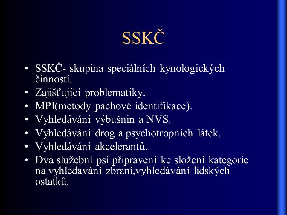 SSKČ SSKČ- skupina speciálních kynologických činností.