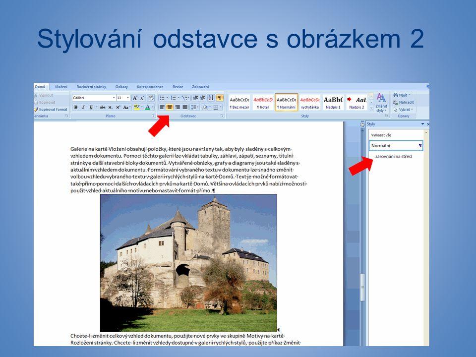 Stylování odstavce s obrázkem 2