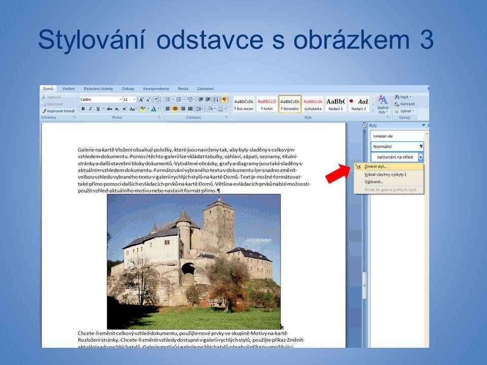 Stylování odstavce s obrázkem 3