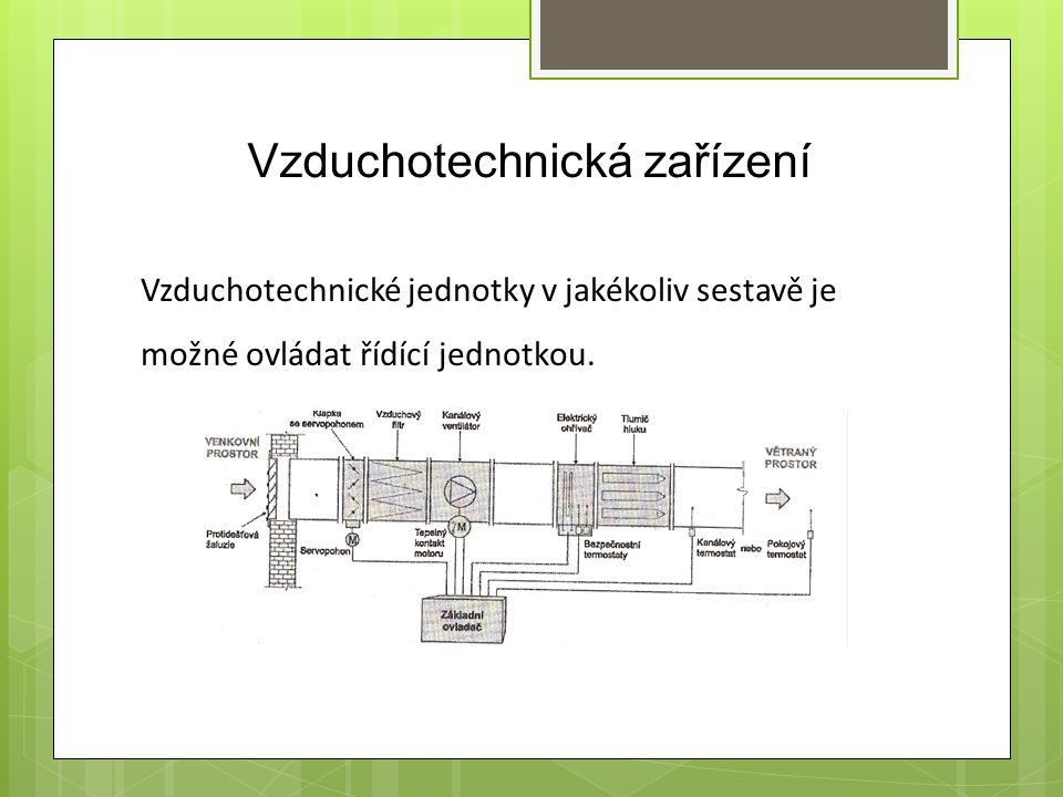 Vzduchotechnická zařízení Vzduchotechnické jednotky v jakékoliv sestavě je možné ovládat řídící jednotkou.