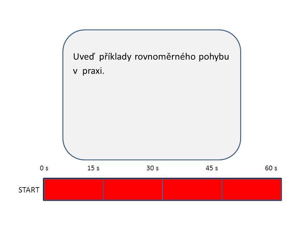 Uveďpříkladyrovnoměrnéhopohybu v START 0 s15 s30 s45 s60 s praxi. dráhu