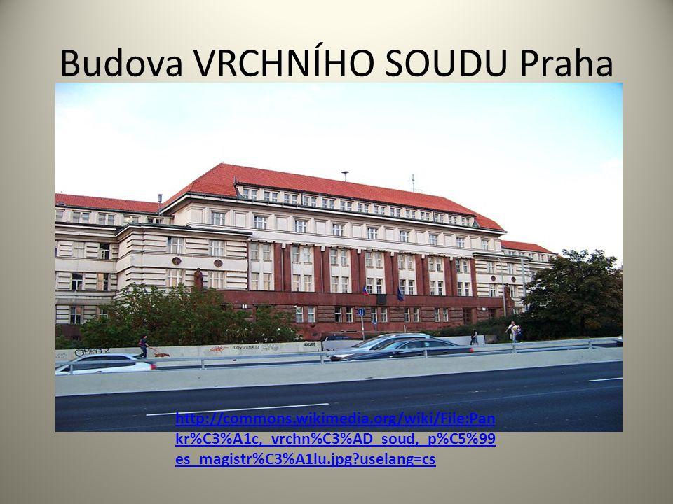 Budova VRCHNÍHO SOUDU Praha http://commons.wikimedia.org/wiki/File:Pan kr%C3%A1c,_vrchn%C3%AD_soud,_p%C5%99 es_magistr%C3%A1lu.jpg uselang=cs