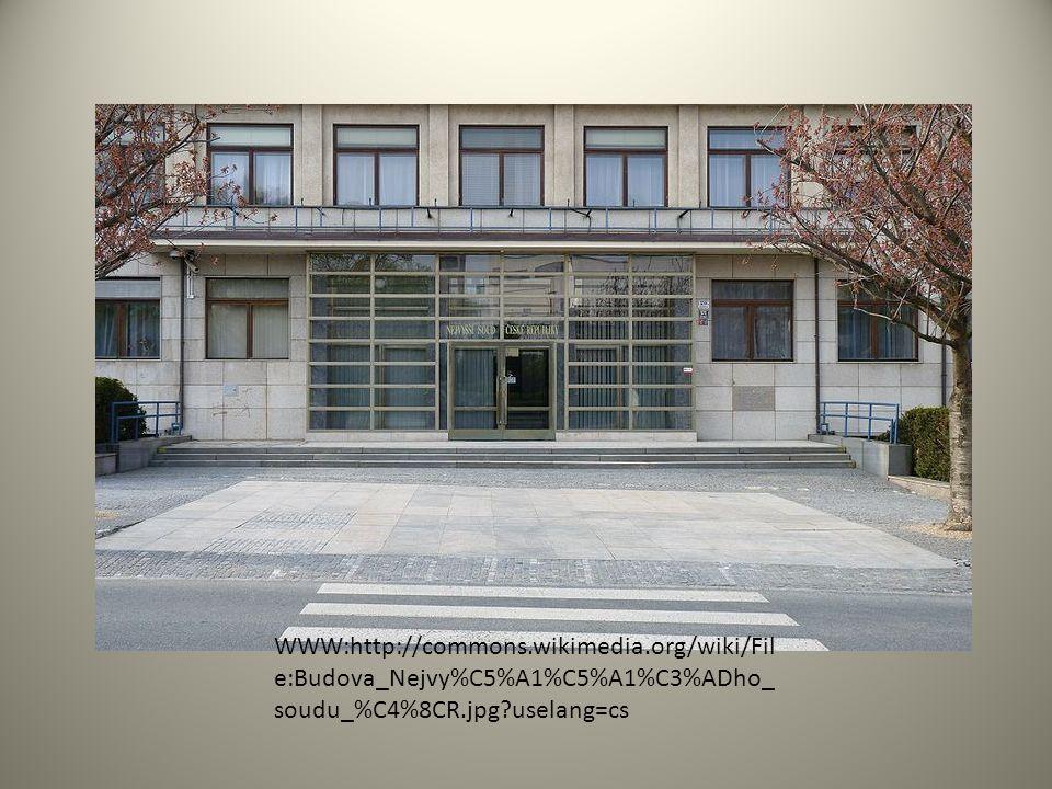 WWW:http://commons.wikimedia.org/wiki/Fil e:Budova_Nejvy%C5%A1%C5%A1%C3%ADho_ soudu_%C4%8CR.jpg?uselang=cs