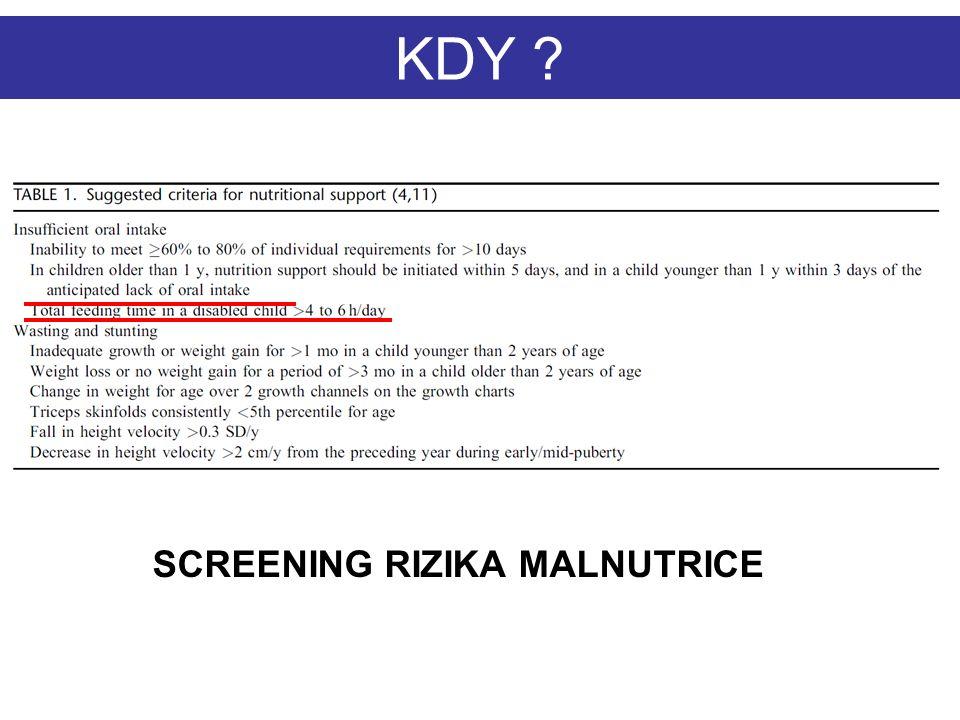 SCREENING RIZIKA MALNUTRICE KDY