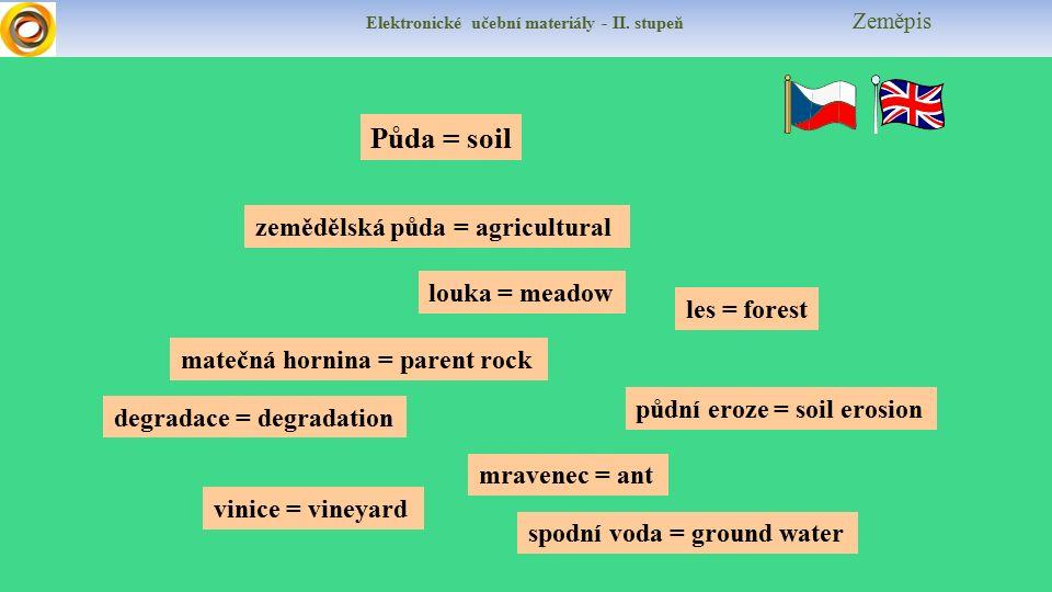 Elektronické učební materiály - II.stupeň Zeměpis Test Jaké půdy převládají v našem regionu.