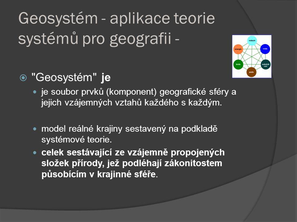 Geosystém - aplikace teorie systémů pro geografii - 