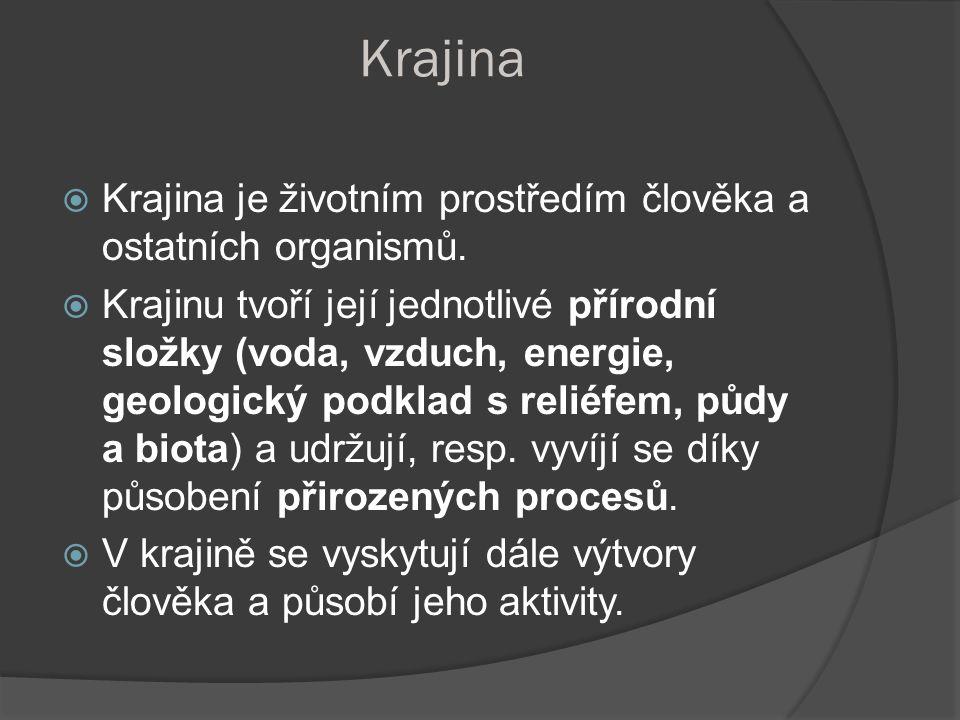 Struktura krajiny není stálá,prodělává změny v čase v závislosti na změnách energie, hmoty, informace